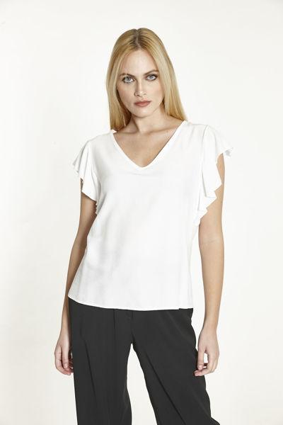 Εικόνα της Μπλούζα  μονόχρωμη Λευκή