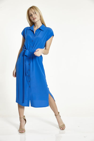 Εικόνα της Φόρεμα Ρούα με  γιακα και ζωνάκι
