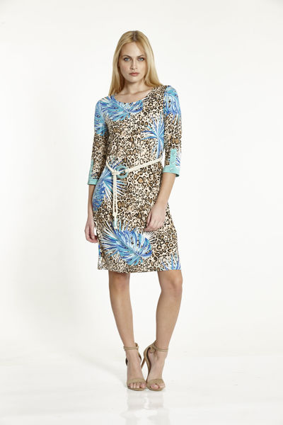 Εικόνα της Φόρεμα Εμπριμέ  με ζωνάκι