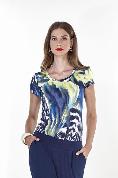 Εικόνα της Μπλούζα  Κοντό Μανίκι με  ανοιγμα πίσω χιαστί