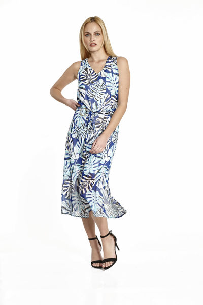 Εικόνα της Φόρεμα εμπριμέ αμάνικο